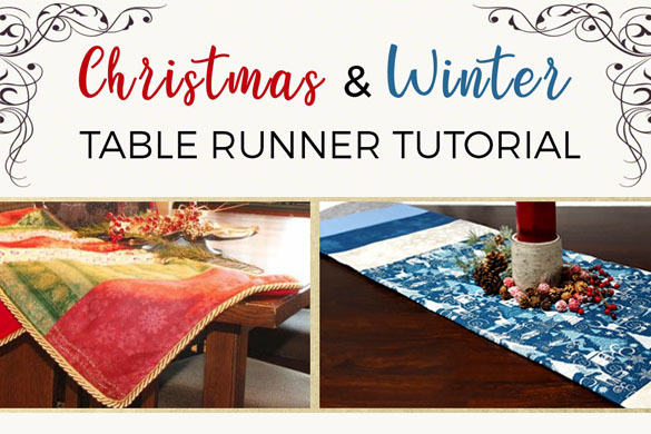 Christmas Table Runner To Make.Christmas And Winter Table Runner Tutorial Sewing Parts