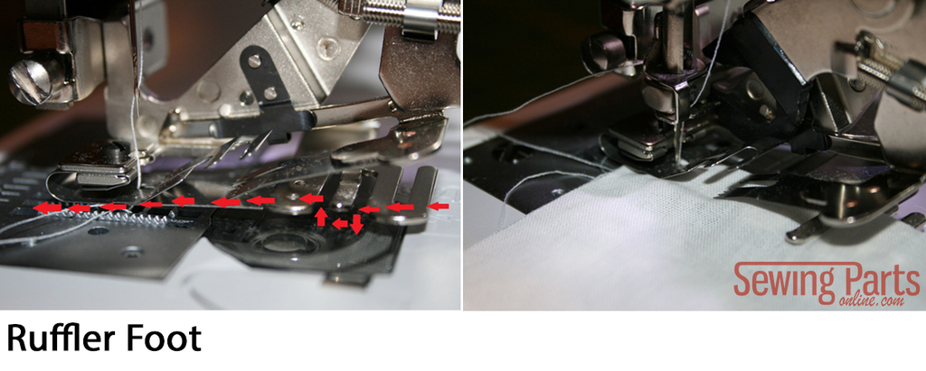 Gathering Foot VS Ruffler Foot Sewing Parts Online Everything Magnificent Ruffler For Brother Sewing Machine
