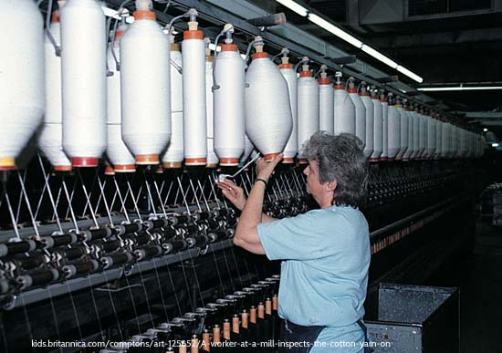 Woman in Cotton Factory