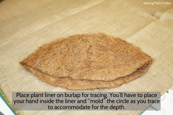 Burlap Hanging Planter_SewingPartsOnline 1