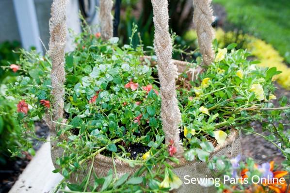 Burlap Hanging Planter_SewingPartsOnline 11