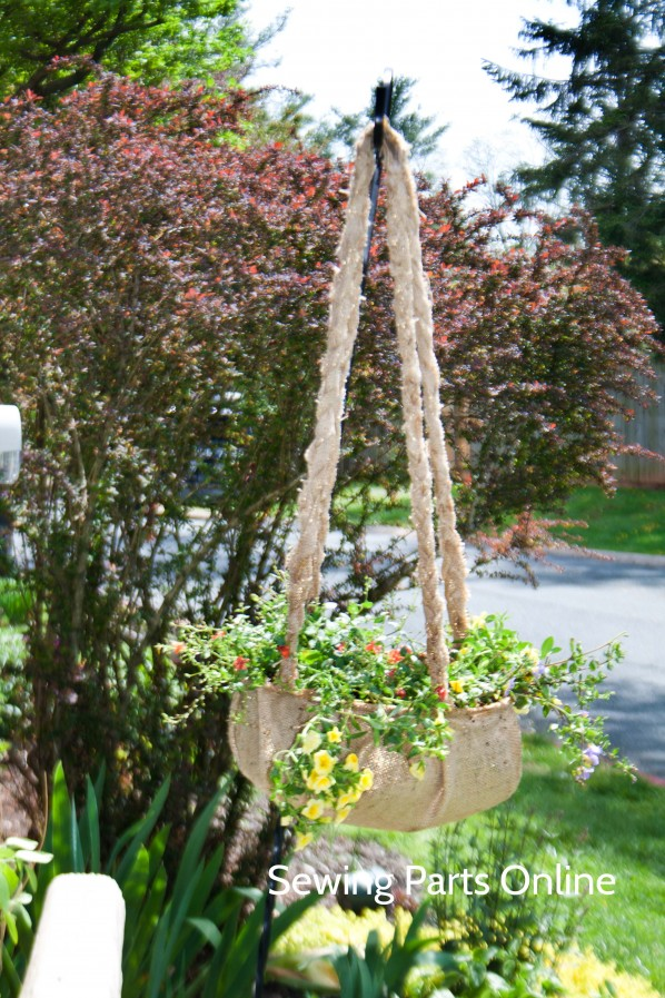 Burlap Hanging Planter_SewingPartsOnline 12