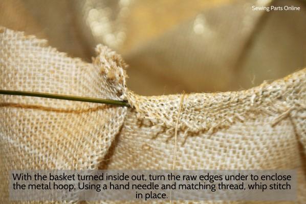 Burlap Hanging Planter_SewingPartsOnline 7