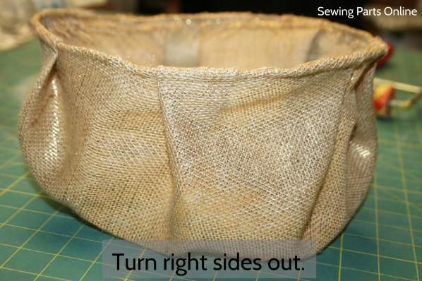 Burlap Hanging Planter_SewingPartsOnline 8