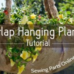 DIY Burlap Hanging Planter Tutorial