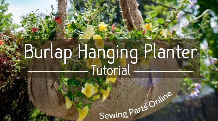 Burlap Hanging Planter