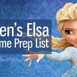 Elsa from Frozen Costume Prep List