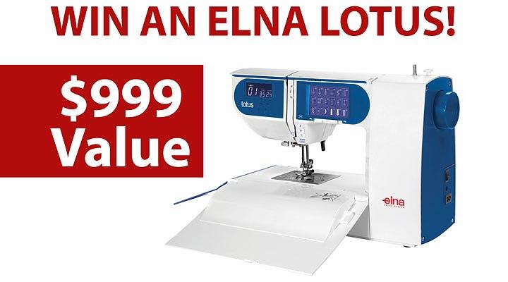 Elna Lotus Giveaway!