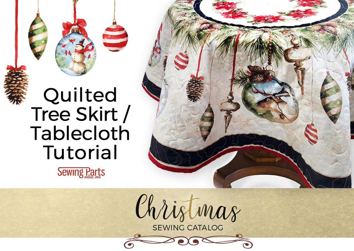 You Can Sew Our Quilted Tree Skirt Round Tablecloth Project With Free Step By Tutorial