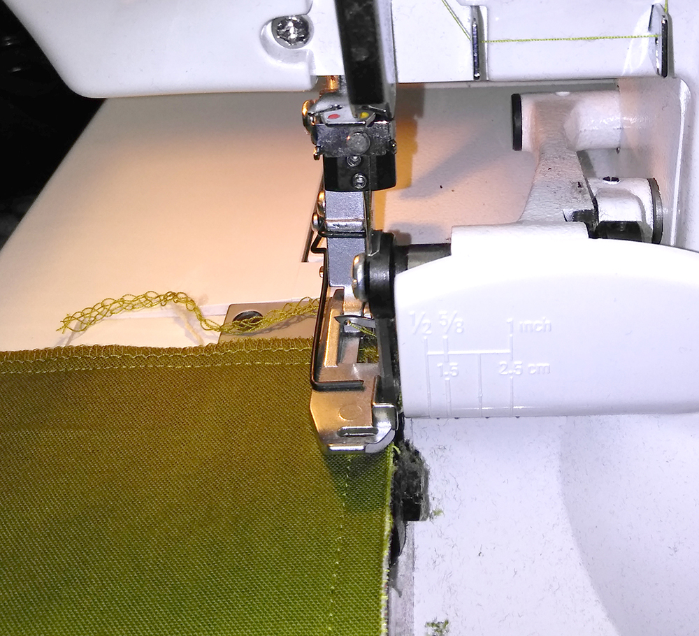 Sewing Pillow Front to Back - Serging