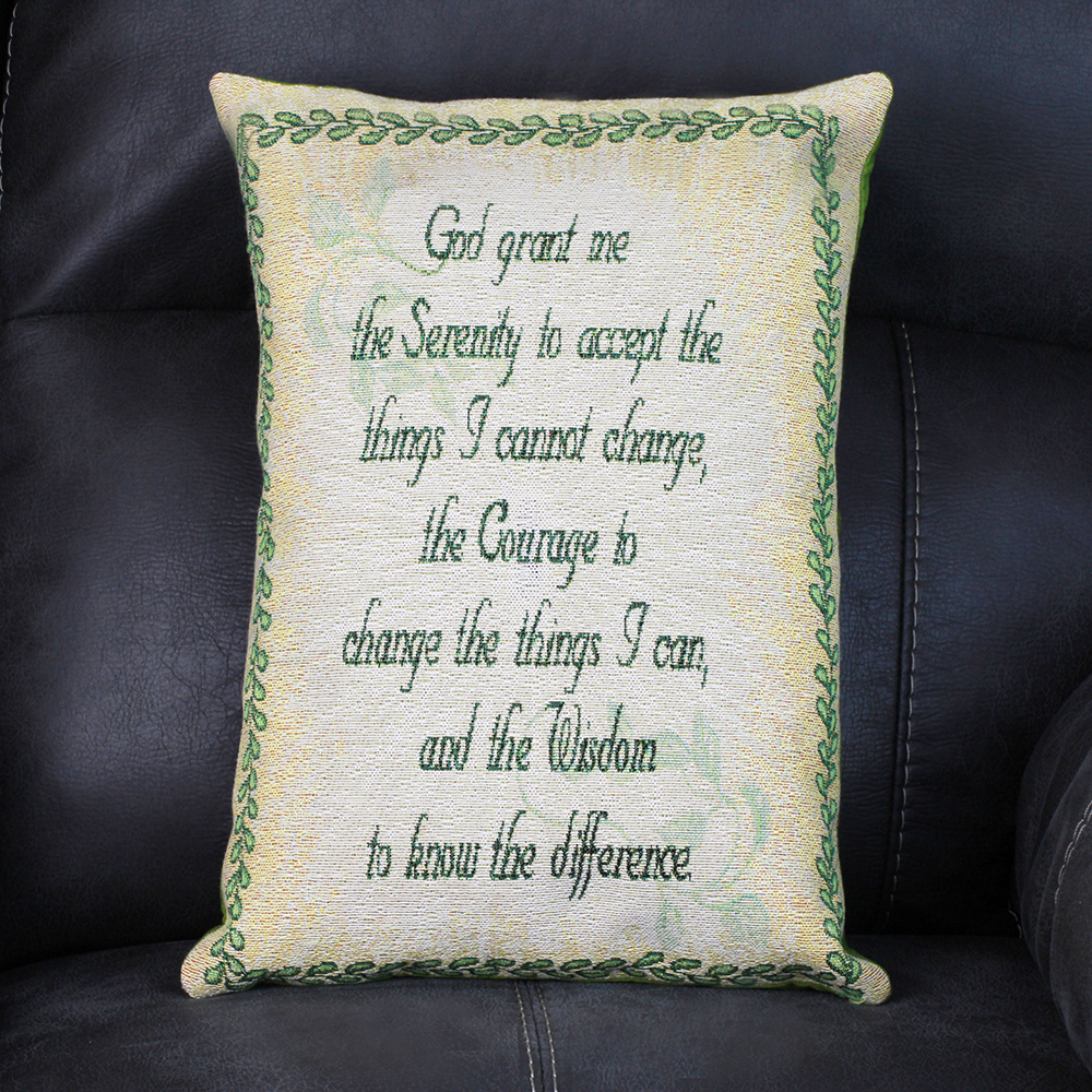 Serenity Prayer Panel Pillow - Front