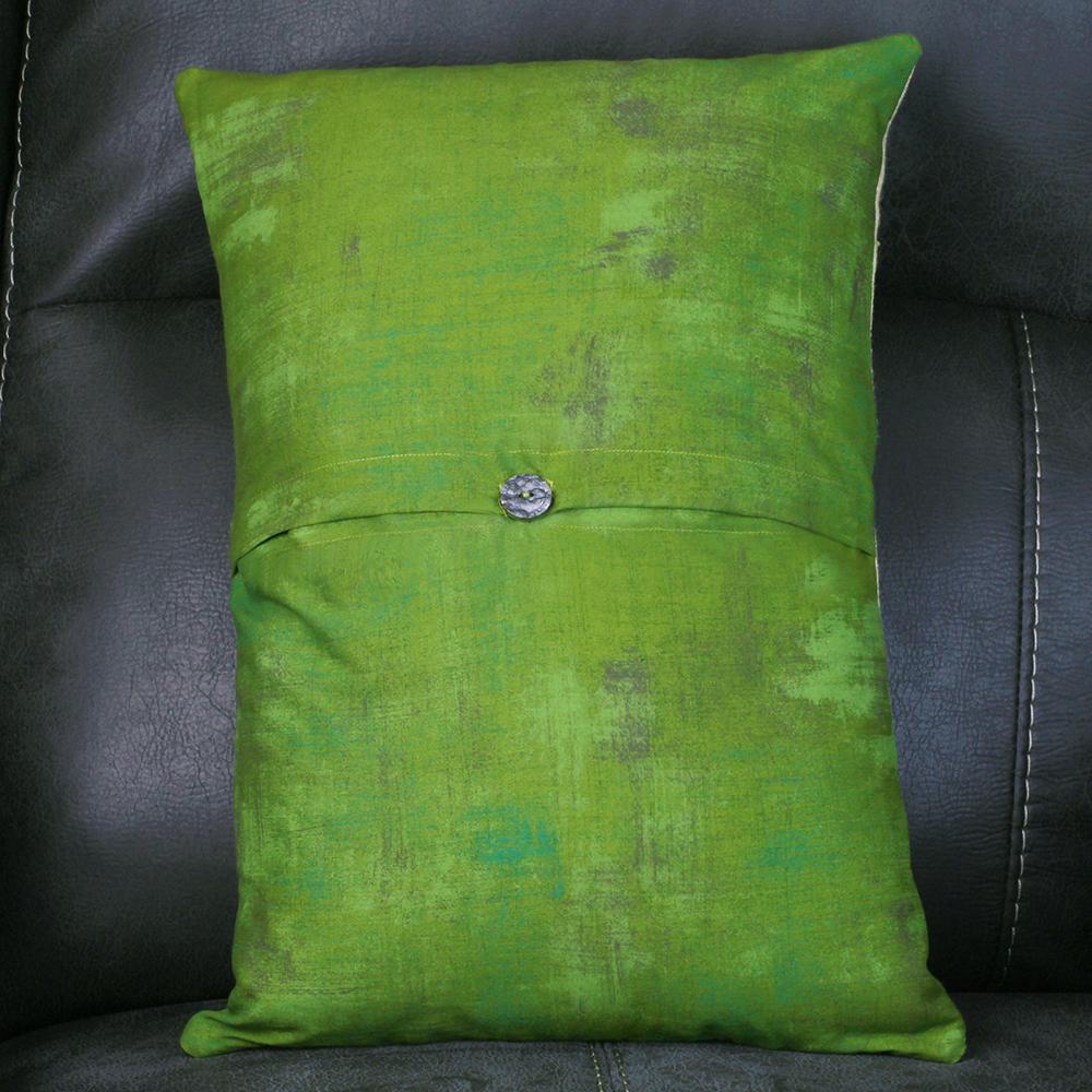 Serenity Prayer Panel Pillow - Back