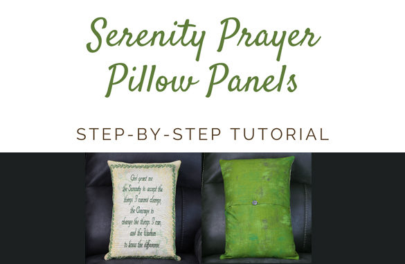 Featured Image - Serenity Prayer Pillow Panel