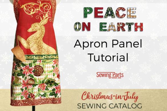 christmas apron tutorial peace on earth