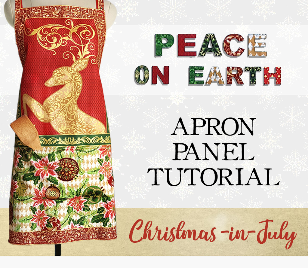 Christmas Apron Tutorial - Peace on Earth - Sewing Parts Online ...