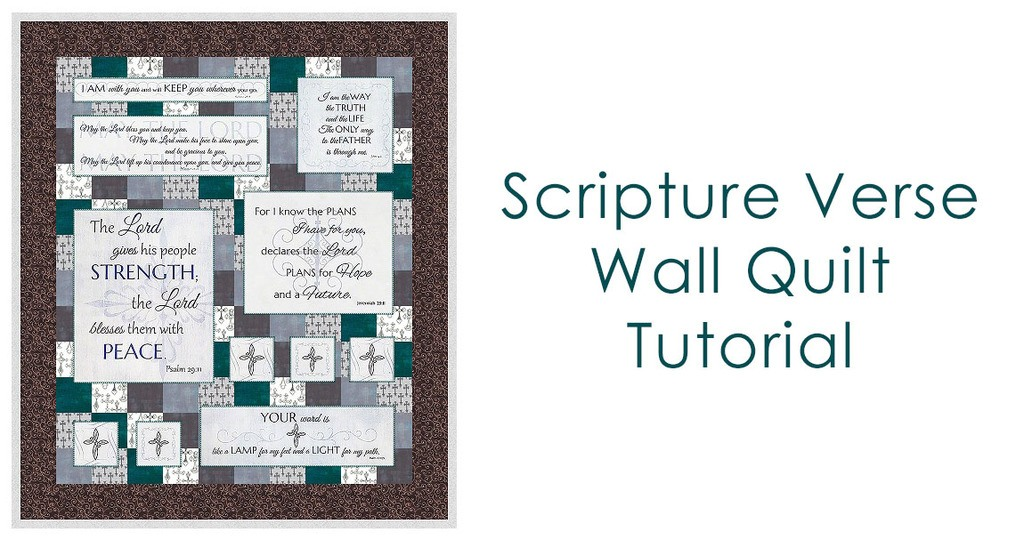 Scripture verse wall quilt tutorial
