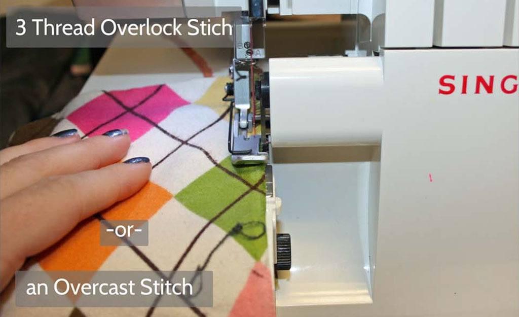 3 thread overlock stitch or an overcast stitch