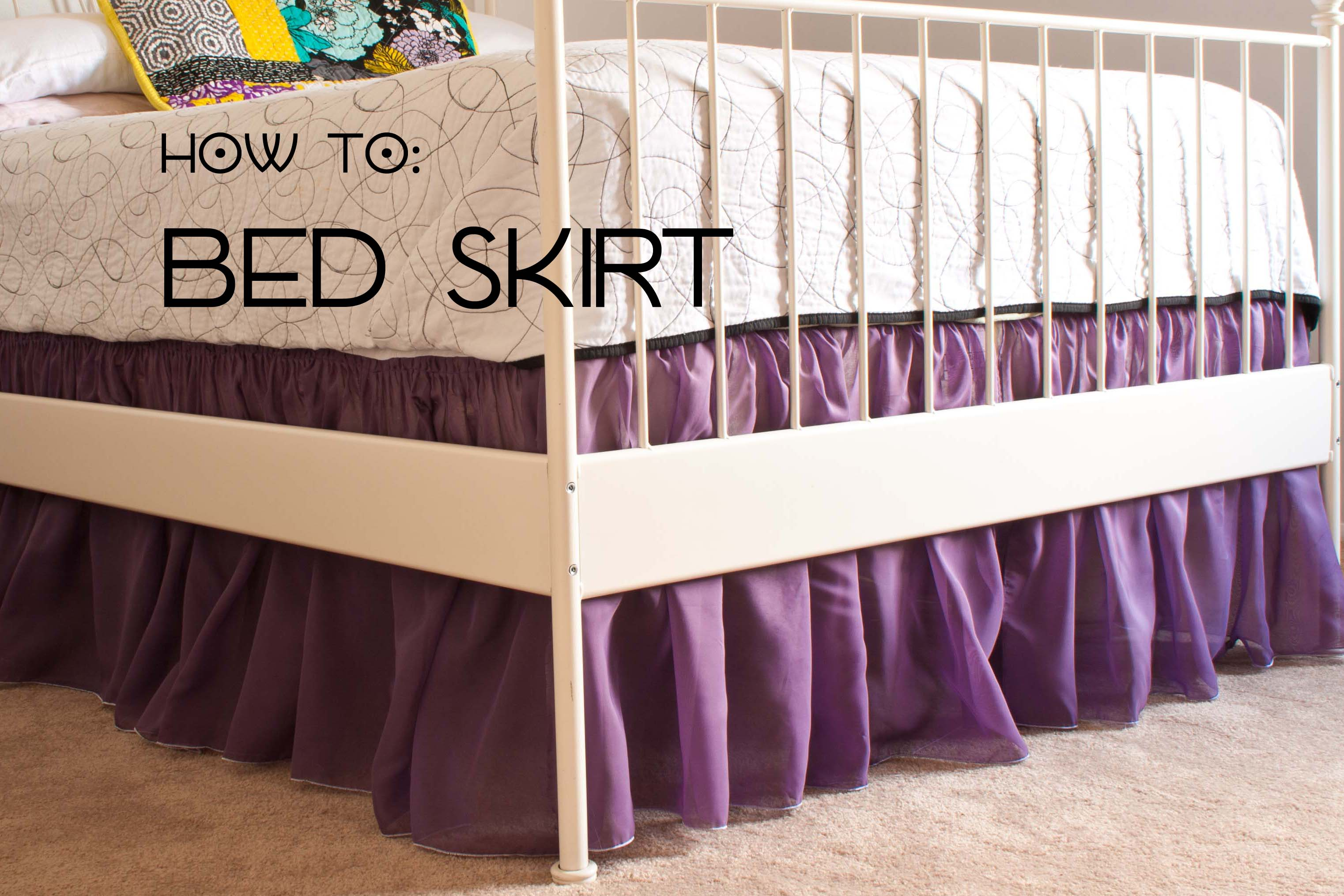 How To Sew A Dust Ruffler Bed Skirt Sewing Parts Online