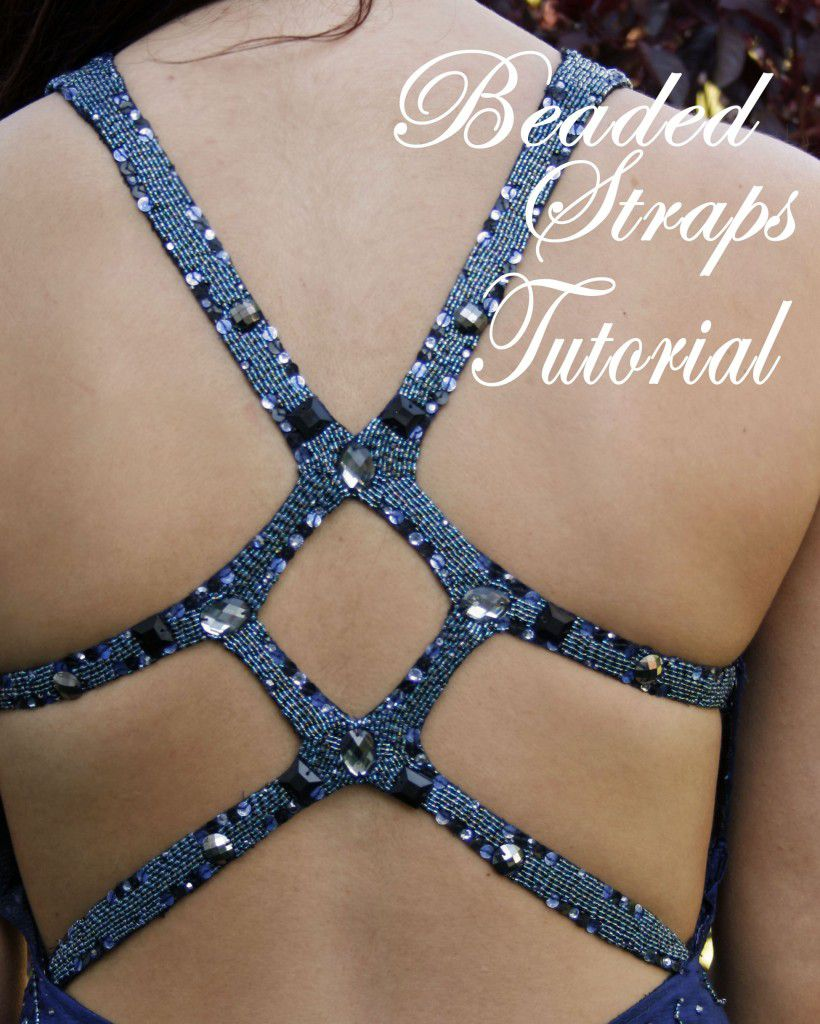 How To Make Beaded Dress Straps Sewing Parts Online Everything