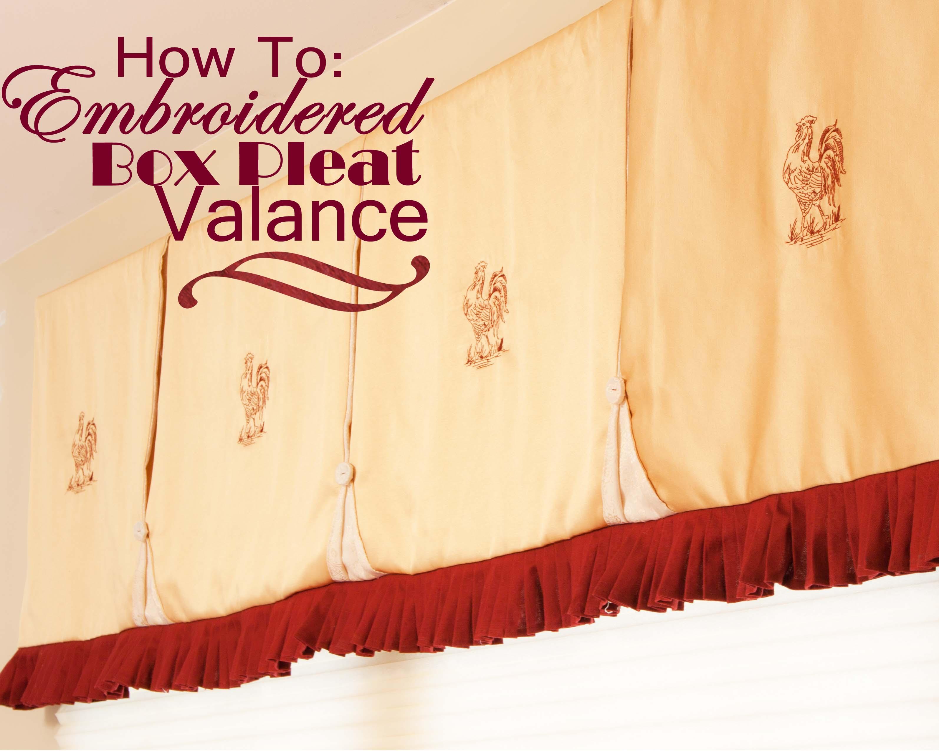 box valance pleat