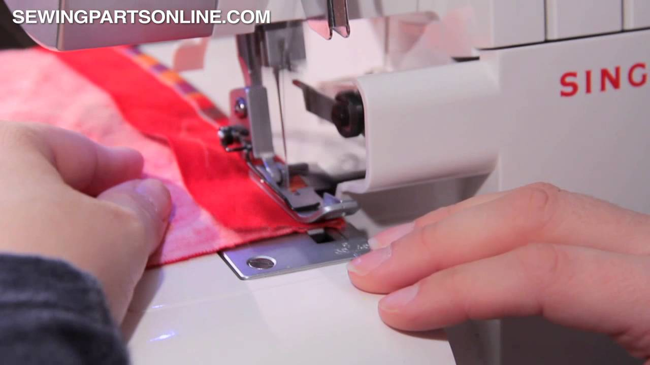 Flatlocking On A Serger Overlock Machine Sewing Parts