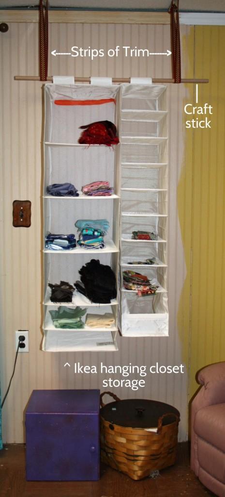 sewing parts online hanging scrap storage