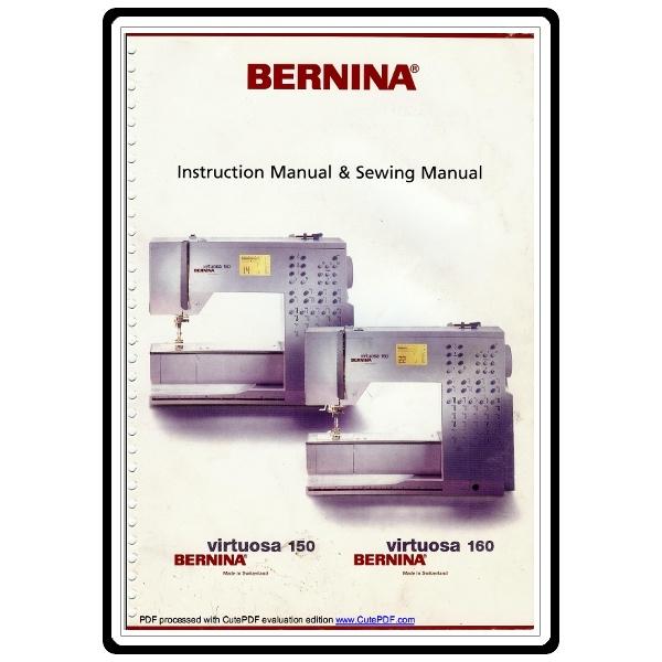 Bernina Virtuosa 150 Manual