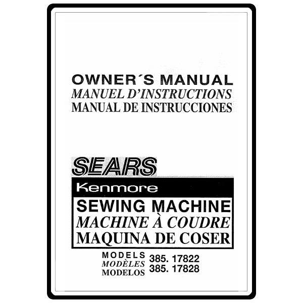 kenmore sewing machine 385 repair manual