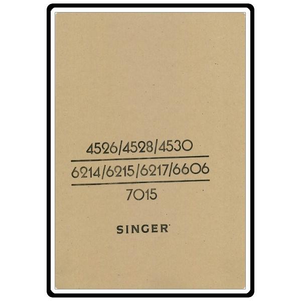 singer 4530 sewing machine manual