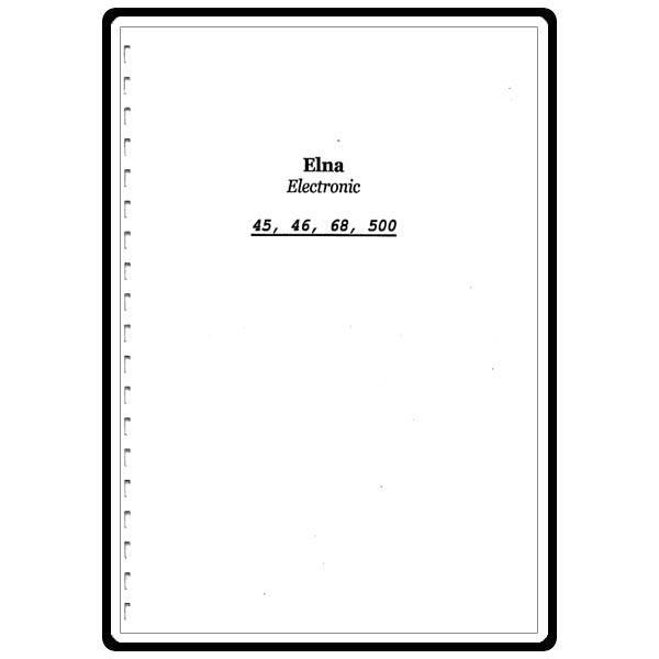elna 500 sewing machine manual