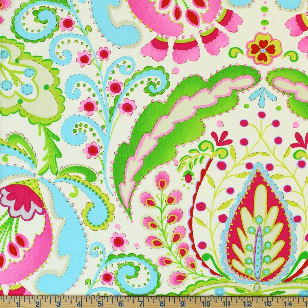 Dena designs kumari garden teja pink fabric sewing for Dena designs tea garden fabric