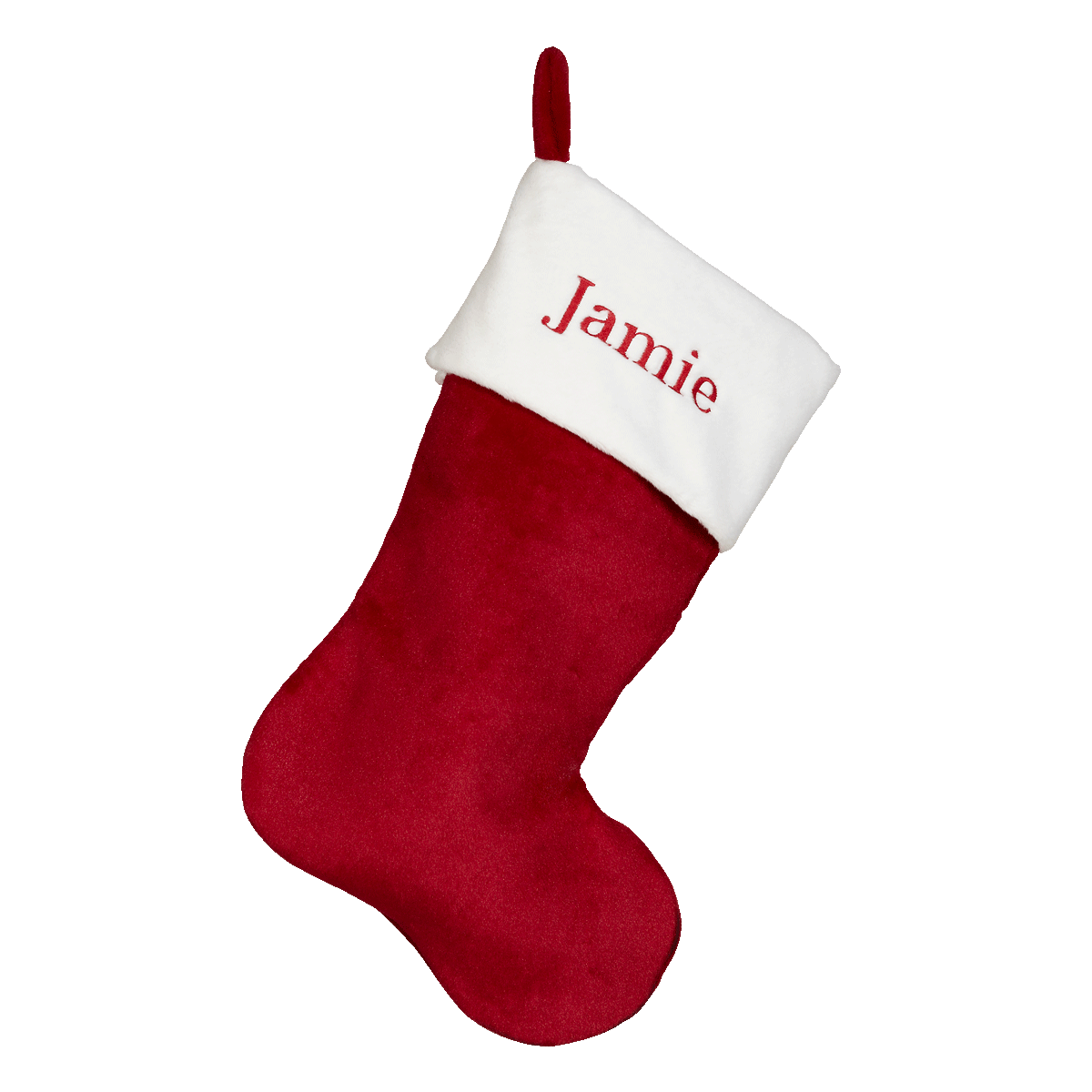 Embroider Buddy Red Plush Christmas Stocking : Sewing Parts Online