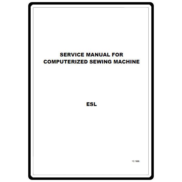 Service Manual Babylock Esl Ellure Sewing Parts Online