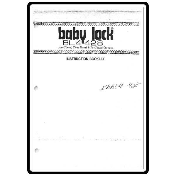 juki babylock manual bl4 738ns