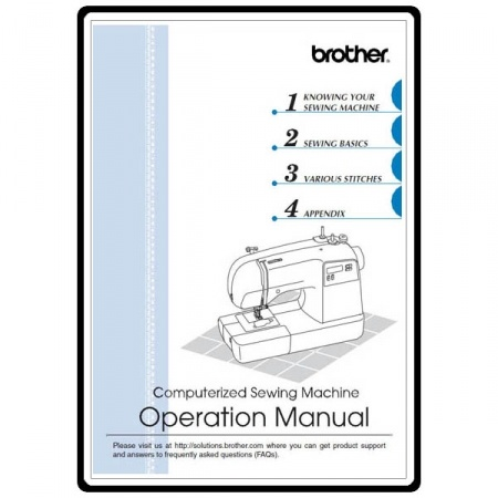 Instruction Manual, Brother Xr-9000 : Sewing Parts Online