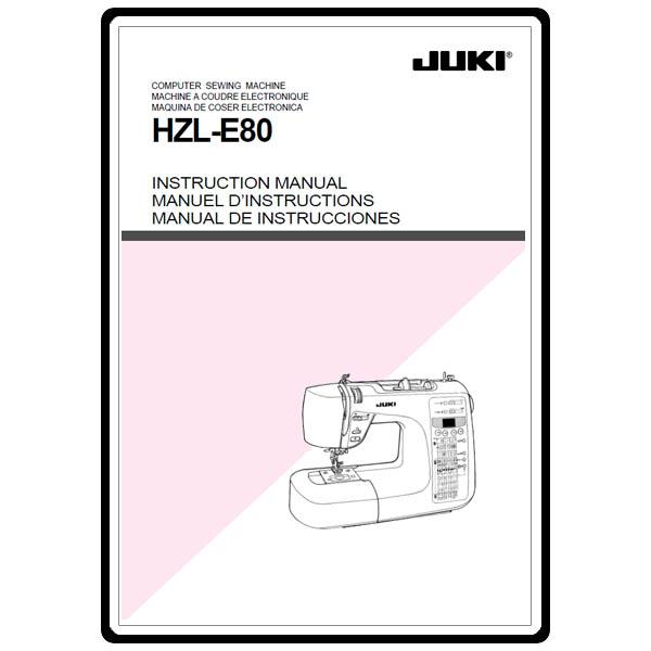 juki sewing machine parts manual