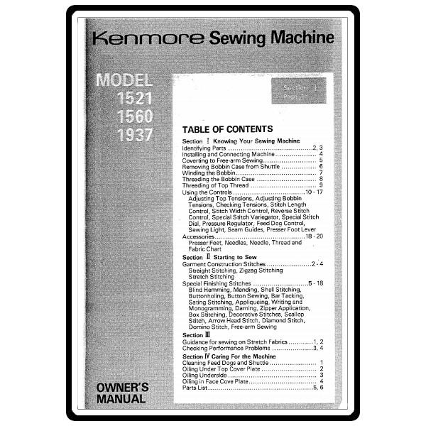 kenmore sewing machine manual 148