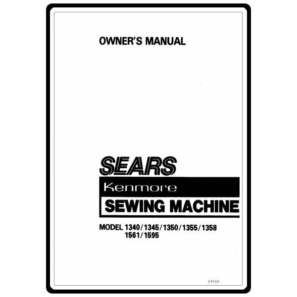 instruction manual  kenmore 158 13500 models   sewing parts online