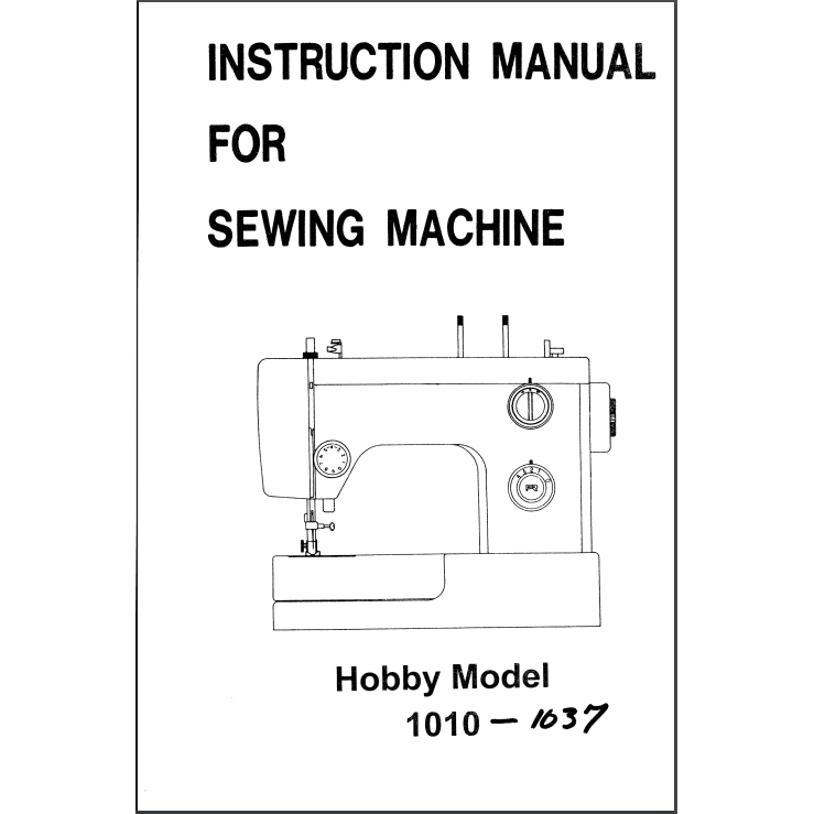 Instruction Manual Pfaff Hobby 1010 Sewing Parts Online