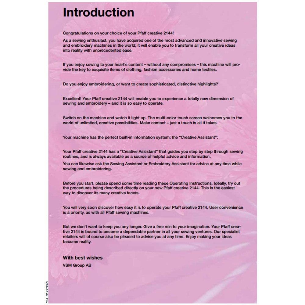 pfaff creative 1471 repair manual