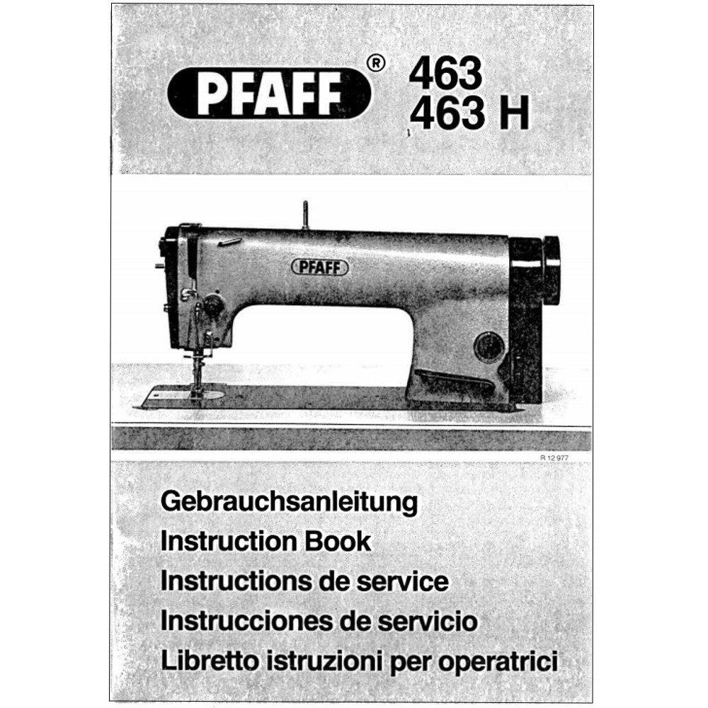 Instruction Manual, Pfaff 463 : Sewing Parts Online