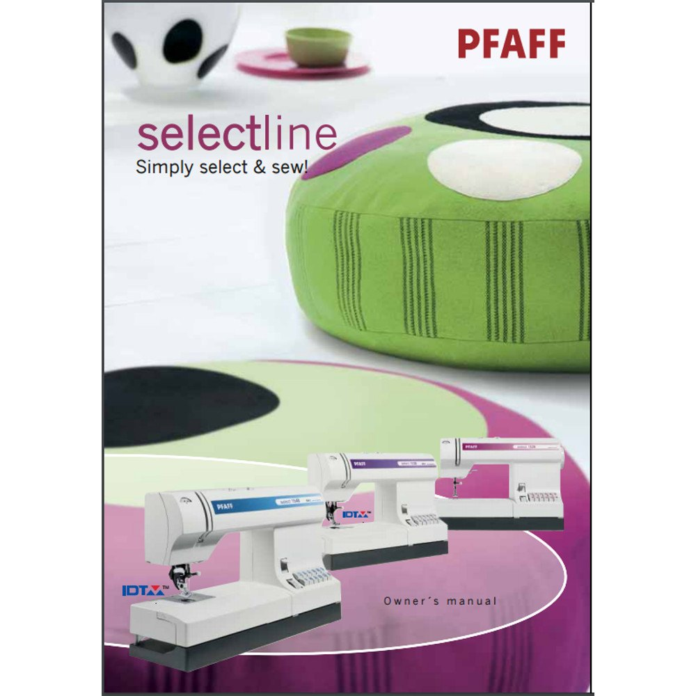 Instruction Manual, Pfaff Select 1528 : Sewing Parts Online