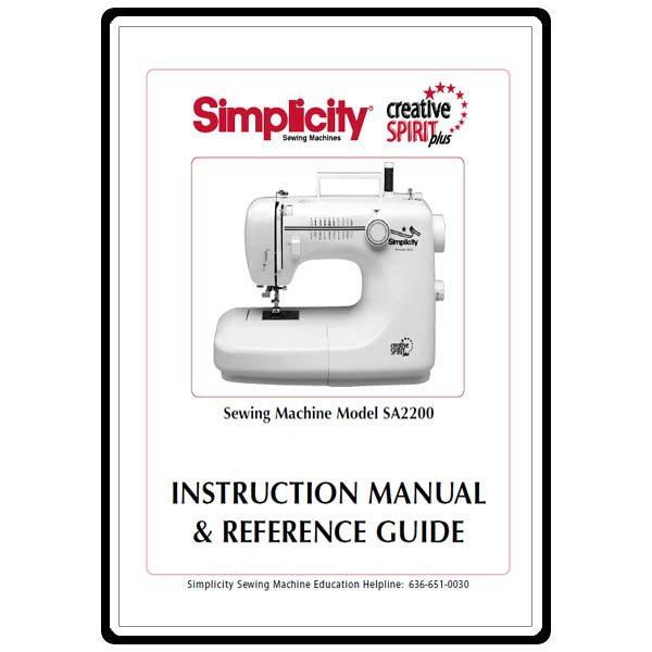 instruction manual  simplicity sa2200   sewing parts online