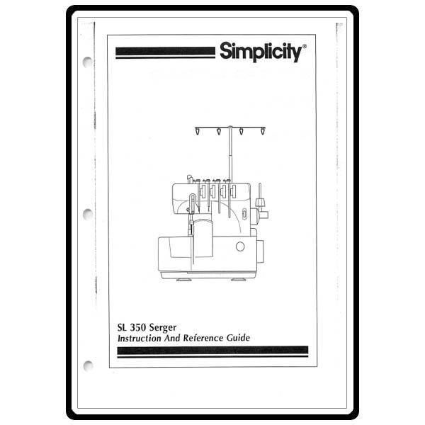 instruction manual  simplicity sl350   sewing parts online