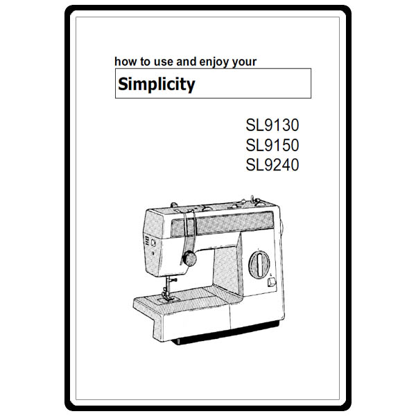 Instruction Manual Simplicity Sl9240 Sewing Parts Online