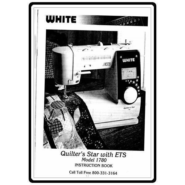 white quilters 1780 sewing machine manual