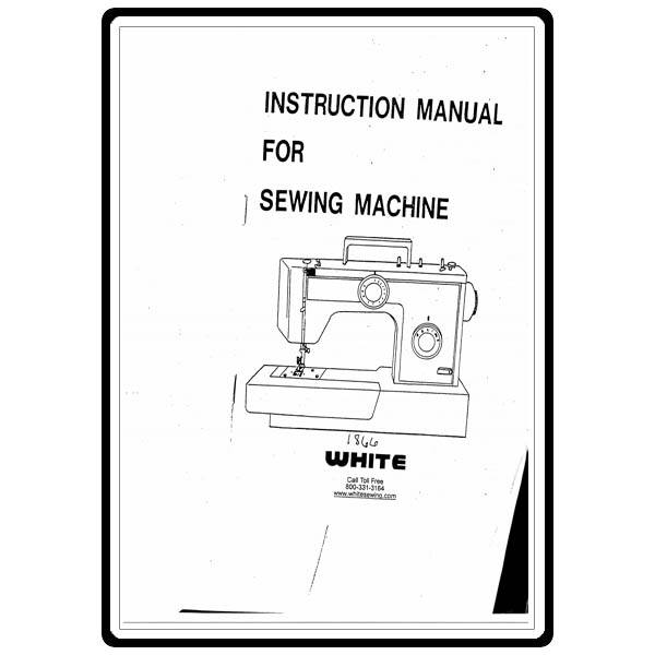 white sewing machine manual 1866