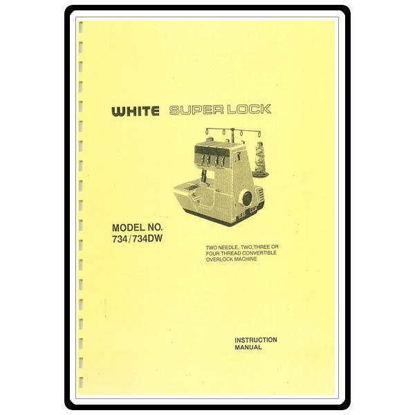 instruction manual  white 734dw   sewing parts online