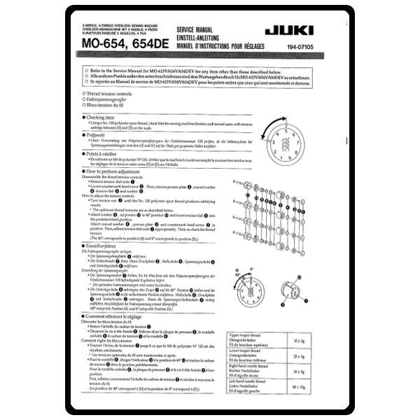 Owners Manual juki Mb373