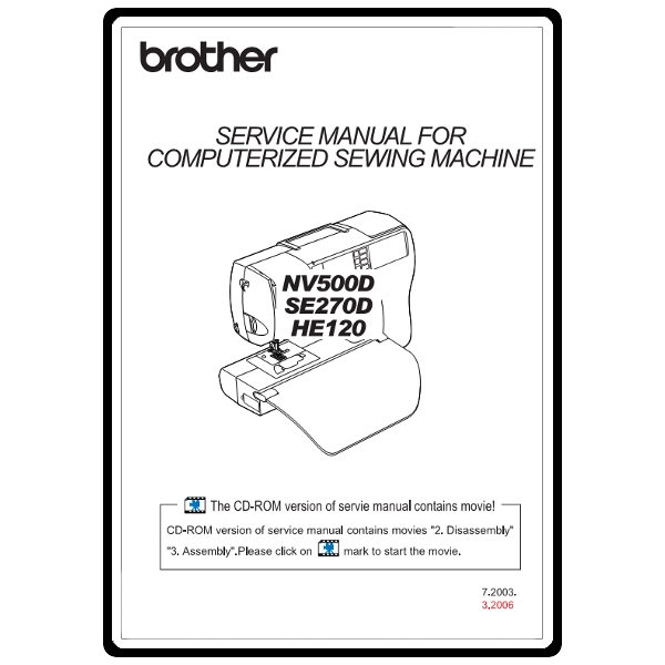 Service Manual  Brother Se270d   Sewing Parts Online